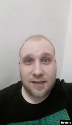 Joshua Holt, a U.S. citizen and Mormon missionary, is pictured from a selfie video he posted on Facebook during a riot at the Helicoide detention center, Venezuela, obtained by Reuters, May 16, 2018.