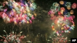 Americans celebrate the Fourth of July with family gatherings and fireworks. They also celebrate with music.