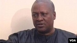 Ghana's President speaks to VOA's Shaka Ssali (file photo).