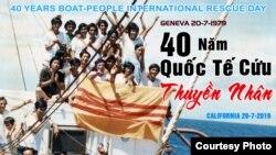 Poster cho sự kiện 40 năm Quốc tế Cứu Thuyền nhân
