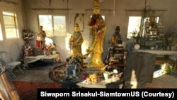 """A view of the Thai Buddhist Temple- Wat Buddha Pavana""""-Las Vegas after an arsonist set fire to the religious campus in North Las Vegas, NV Dec 15, 2019."""