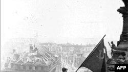 Победное знамя над рейхстагом. 2 мая 1945 года