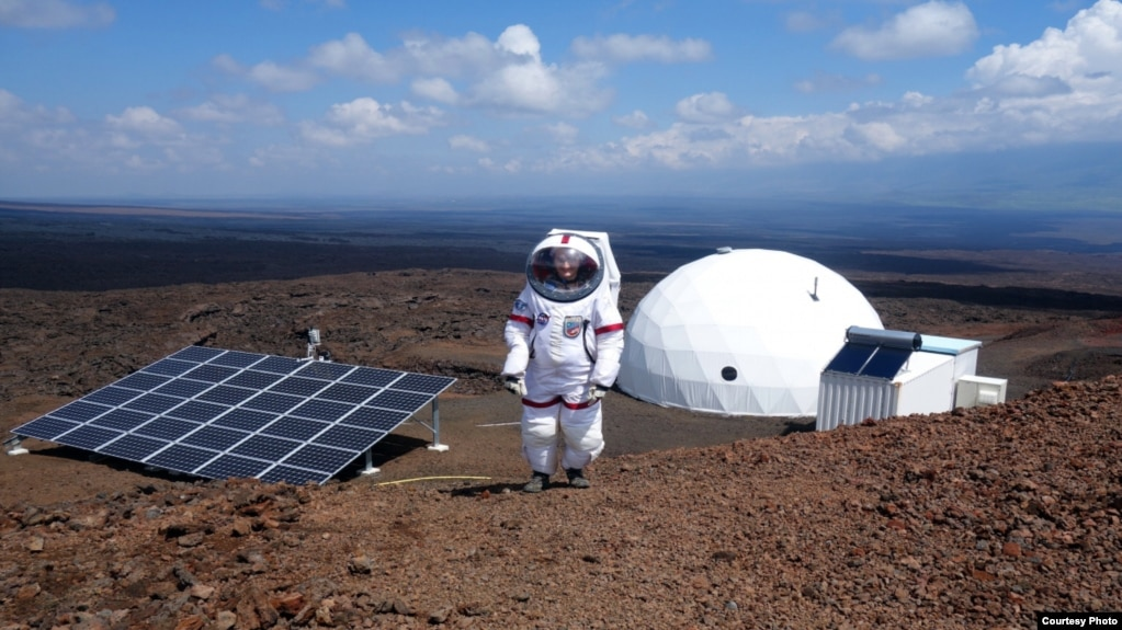 A HI-SEAS crewmember participates in a year-long simulated Mars mission in Mauna
