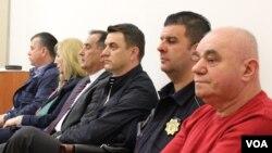 Esed Radeljas, Damir Hadzic, Jasmina Horo, Nedzad Kapetanovic and Jusuf Causevic in the courtroom 13-04-2017