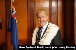 FILE - New Zealand Parliament Speaker David Carter.