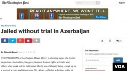 The Washington Post-da Azərbaycanla bağlı məqalə