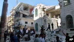 지난 6월 시리아 알레포에서 미사일 공격으로 파괴된 병원 (자료사진)
