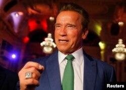 FILE - Former California Governor Arnold Schwarzenegger attends the Austrian World Summit on climate change in Vienna, Austria, June 20, 2017.