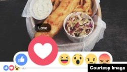 "Facebook has rolled out several new animated reaction buttons to supplement the famous ""Like"" button. (Facebook)"