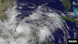 Bão Ingrid mang theo những cơn gió mạnh đến 140 km/giờ. Ảnh: NASA