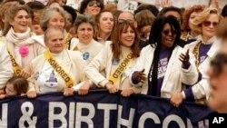 美国堕胎权抗议