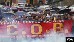 La Central Obrera Boliviana llevó a cabo casi dos semanas de violentas protestas.