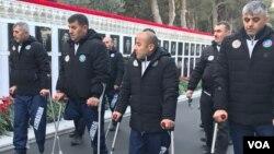 20 Yanvar Ümumxalq Hüzn Günü ictimaiyyət Şəhidlər Xiyabanını ziyarət edir
