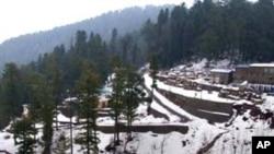 وادی سوات اور ملحقہ اضلاع میں برفباری