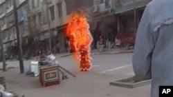 去年11月3日一名尼姑在西藏自焚
