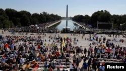 Dubban mutanen da su ka hallara a Washington a zagayowar Ranar Jawabin Martin Luther King
