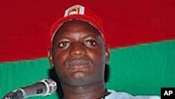 Mfuka Muzemba, líder da JURA - juventude da UNITA - está entre os detidos que aguardam julgamento