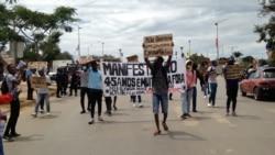 Activistas sociais marcham em Malanje, 9 Janeiro 2021