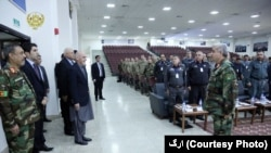 د افغان امنیتي ځواکونو د تیرو اوو میاشتو د کړنو د ارزونې په کنفرانس کې د جمهور رئیس غني گډون