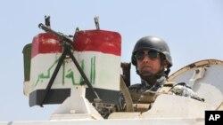伊拉克士兵在巴格達守衛