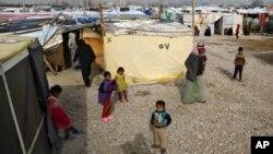 Camp de réfugiés syriens à Saadnayel au Liban, le 22 janvier 2016.