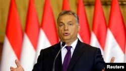 Hungarian Prime Minister Viktor Orban attends a news conference in Budapest, Hungary, Oct. 4, 2016.