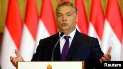 PM Hongaria Viktor Orban berbicara di Budapest, Hongaria (foto: dok).