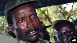 FILE - The leader of the Lord's Resistance Army, Joseph Kony, answers journalists' questions following a meeting with UN officials in southern Sudan, November 2006.