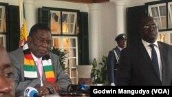 Perezida wa Zimbabwe Emmerson Mnangagwa