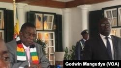 Zimbabwe President Emmerson Mnangagwa Declares Coronavirus National Disaster. (Pic Credit Godwin Mangudya/VOA)