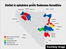 Karadžić indicment crimes