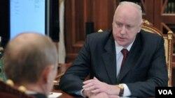 俄羅斯聯邦調查委員會主席巴斯特雷金(資料圖片)