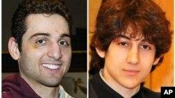 Tamerlan Tsarnaev, 26, left, and Dzhokhar Tsarnaev, 19. The ethnic Chechen brothers are the suspects in the Boston Marathon bombing.