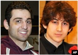 Tamerlan Tsarnaev, 26, left, and Dzhokhar Tsarnaev, 19. The ethnic Chechen brothers are suspects in the Boston Marathon bombing.