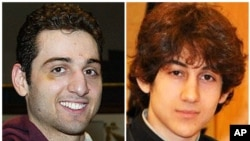In an undated image, Tamerlan Tsarnaev, (l), and Dzhokhar Tsarnaev, are pictured. The brothers were ethnic Chechens who came to the U.S. from Russia.