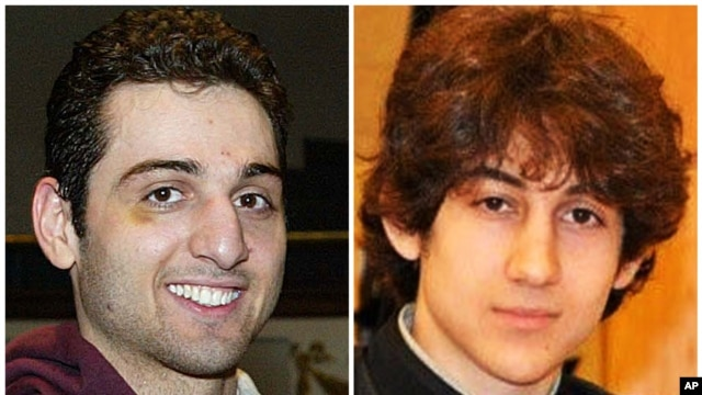 Tamerlan Tsarnaev, 26, left, and Dzhokhar Tsarnaev, 19, are suspects in the Boston Marathon bombing, undated file images.