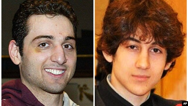 Tamerlan Tsarnaev, 26, left, and Dzhokhar Tsarnaev, 19. The ethnic Chechen brothers are the suspects in the Boston Marathon bombing.