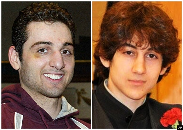 Tamerlan Tsarnaev, 26, left, and Dzhokhar Tsarnaev, 19. The ethnic Chechen brothers are suspects in the Boston Marathon bombing.