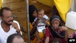 В беженском лагере