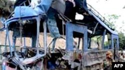 Hiện trường nơi xảy ra tai nạn gần Challanakeri, miền nam Ấn Ðộ