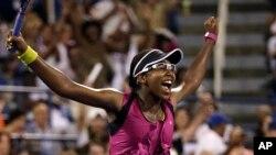 Victoria Duval celebra su primer triunfo en un Grand Slam y ahora deberá enfrentar a la eslovaca Daniela Hantuchova.