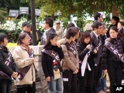 香港民眾吊唁司徒華
