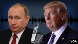 Marais Vladmir Putin wa Russia na Donald Trump wa Marekani.