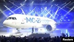伊尔库特公司制造的MC-21型中程客机(资料照片)