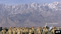 Bamwe mu basiorikare ba Amerika muri Afuganistani