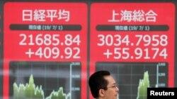 Saham-saham di Tokyo, China, dan Eropa naik ke level tertinggi dalam dua bulan, Senin (1/7).