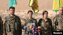 Comandantes das Forças Democráticas Sírias.