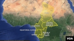 Map shows the CEMAC bloc