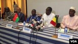 Réunion des Ministres de la sécurité des pays du G5 Sahel.