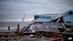Edisto Bič u Južnoj Karolini, posle uragana Metju
